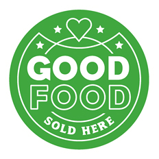 Good Food Sold Here logo.