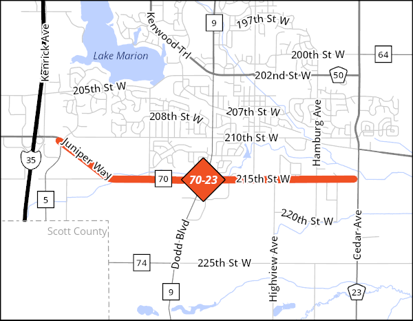 County Road 70 Project Map