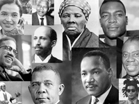 Collage of Black History Month contributors